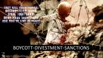 Boycott, Divestment, Sanctions - 01 by Bragon-the-bat