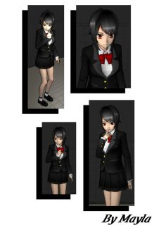 YanSim Skin - Simple Black Uniform by Malanisa