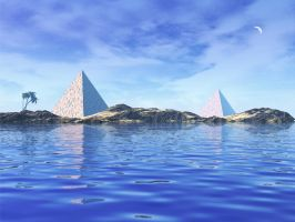 Pyramid Island by firefoxcentral
