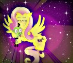 Fluttershy and Gir by mumble76
