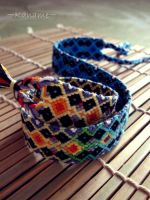 Bracelet with variation of color scale by Kaname-Kirito