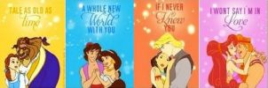 Disney Princess Couples Banner by nickelbackloverxoxox