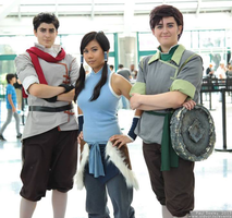 Legend of Korra Cosplay | Mako, Korra, and Bolin by CosplayInABox