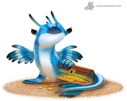 Daily Paint #1028. 'Blue Dragon Slug' by Cryptid-Creations