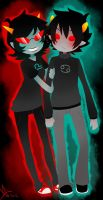 -Karkat 'n Terezi- by Life-Writer