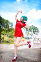 Macross Frontier : Jovial Red by thebakasaru