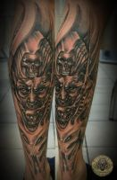 Demon face horror skull final by 2Face-Tattoo
