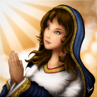 The Praying Madonna(Mary) - Digital Speed Painting by ronggo