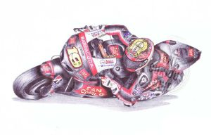 Alvaro Bautista, 19, Ballpoint Pen by onecuriouschip