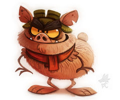 Daily Paint #664. Carebears - Beastly by Cryptid-Creations