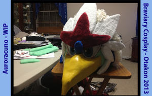 Braviary Fursuit WIP by Auroracuno