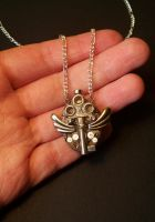 Winged Key Steampunk Pendant by CraftMagic