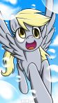 BHB Smartphone Wallpaper - Derpy in the Sky by Burning-Heart-Brony