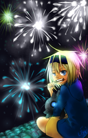 Fireworks on the roof by Tree-kun