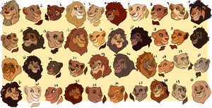 Lion Busts 2 by oCrystal