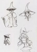 FF1 wol and black mage doodles by 5REQUIEM5