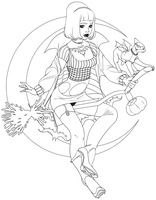 Witchy LineArt - Lines in description by Cusd