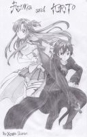ASUNA and KIRITO by XenNa-Scarlet