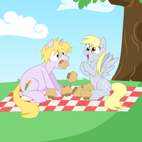 Lunch Pony meets Derpy by Natsu714