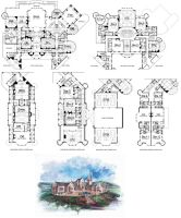 Mansion Floor Plan by shippo-lover
