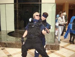 Wesker neck breaker by Otakuasylum