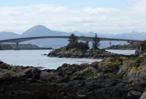 Skye Bridge and Eilean Ban by piglet365
