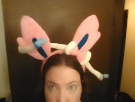 Sylveon ears needle felted. by CreationsbyFrost