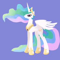Thing-a-day Day 29-30: s2e03 Princess Celestia by Drakmire
