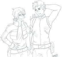 Shiro and Keith by LALASOSU2