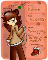.::AG-Ficha animal group-karrie::. by Silviaakame