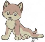 Cute Wolf Pup by Amritha