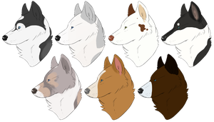 Headshot RNG Huskies by Canidae-Mayhem