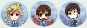 Ouran Button set 1 by Radittz
