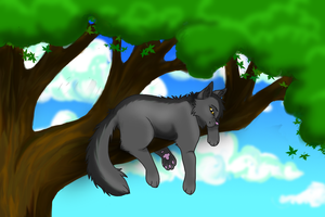Graystripe Is Tree-sitting by TiigerLiily