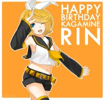 HBD Kagamine Rin by zevlag21