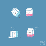 Never Cry Over Spilled Milk by kusodesign