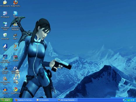 Lara CroftWallpaperDesktopshot by SuperSonic92