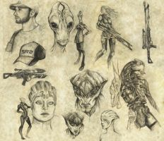 mass effect doodles by llegolas