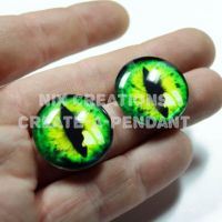 Glass Eyes for Steampunk Pendants and Jewelry by Create-A-Pendant