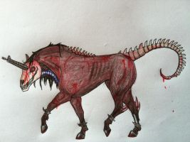 Evil Unicorn? by ariakh