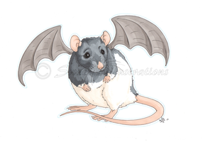 Batty Ratty! by SweetIllustrations