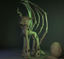 Queen of Blades WIP (stage 3d) part 4 by Temporal333