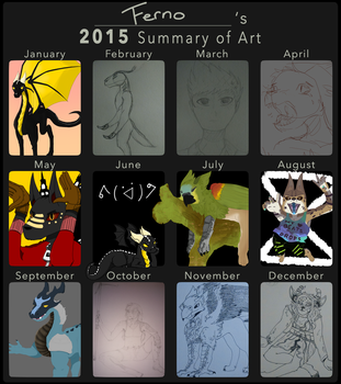 2015 Summary of Art by fernothedragon