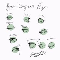 Stylized Eyes For Beginners by spoonz10