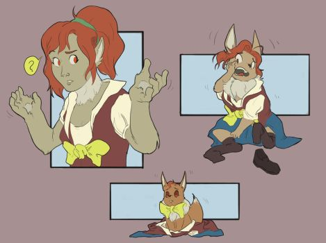 Mikoto to Eevee transformation by FauvFox