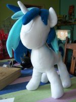 WIP Vinyl Scratch in fleece by WhiteAntCrawls