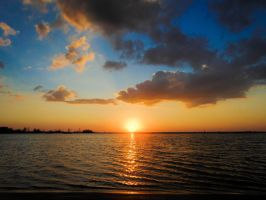 Sunset at Fort De Soto by anxietybird