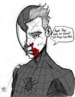 Spidey beatup by phillip-r