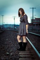 Jenny on the Railroad Tracks by inessentialstuff