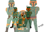 Green and Orange Mandalorians by mahiyanacarudla